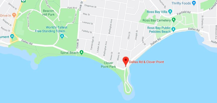 Clover Point Park Map